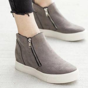 Wedge Heel Sneakers- Grey